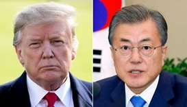 US President Donald Trump and South Korean President Moon Jae-in