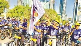 Indian Sports Centre holds cycle rally to mark Gandhi's 150th birth anniversary