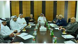 Qatar Chamber second vice chairman Rashid bin Hamad al-Athba presiding over the meeting