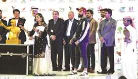 Qatar Cricket Association President Yousef Jeham al-Kuwari (second from left) presided over the open