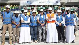 Supreme Committee celebrates 15 million safe work hours in Al Thumama stadium