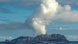 Volcano on New Zealand's White Island spewing steam and ash