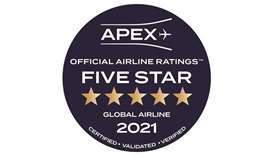Qatar Airways has received the 2021 Airline Passenger Experience Association's (APEX) Five Star Glob