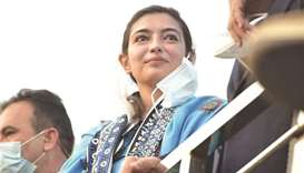 MULTAN MILESTONE: Aseefa Bhutto-Zardari at the PDM rally yesterday.