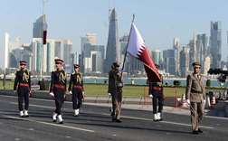 Glimpses from the rehearsal of the Qatar National Day on Doha Corniche