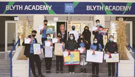 Blyth Academy hosts students' art exhibition