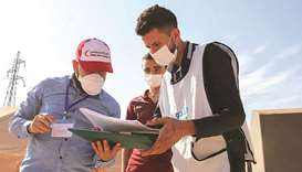 QRCS personnel monitoring the polio vaccination campaign in northern Syria.