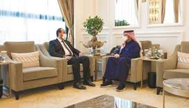 During the meeting, they reviewed bilateral relations and discussed Syrian issues, in addition to is
