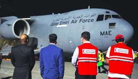 Qatar Amiri Air Force aircraft arrives in Manila.
