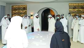 HE Sheikh Joaan, Sheikh Ahmad al-Fahad al-Sabah, President of Olympic Council of Asia and other dign
