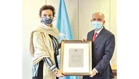 The Unesco Secretary-General commended the efforts exerted by al-Zainal over 20 years to achieve the