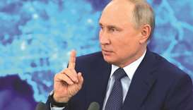 Putin warns the West against crossing 'red line'