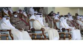 Amir, Father Amir attend National Day parade