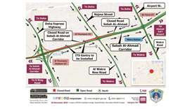 Temporary traffic closure on Sabah Al Ahmad Corridor