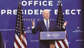 President-elect Joe Biden speaks during an event to name his economic team at the Queen Theater in W
