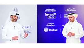 QDB CEO Abdulaziz bin Nasser al-Khalifa delivering a speech during the forum.