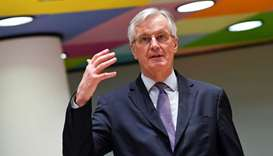 European Union's chief Brexit negotiator Michel Barnier speaks during a meeting of the Committee of