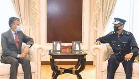 Director of Public Security meets Indian, Iran envoys