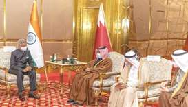 From left: Indian External Affairs Minister Dr S Jaishankar with Qatar Chamber chairman Sheikh Khali