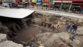 Drainage works unearth Roman baths in heart of Jordan's capital