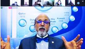 Doha Bank CEO Dr R Seetharaman speaking at the Virtual Global Economic Summit 2020.