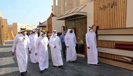 Katara general manager Dr Khaled bin Ibrahim al-Sulaiti and other dignitaries touring the 'Ibn Rayb'
