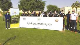 The event was held in the presence of a number of officials and engineers of the Public Parks Depart