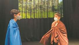 The drama, titled A Dream of a Lifetime, was designed to develop students' Arabic language skills th