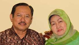 Senior Indonesian doctor Sardjono Utomo and his wife, who died from coronavirus disease (Covid-19) a