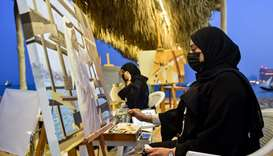 Visual artists showcases their works at Katara Traditional Dhow Festival