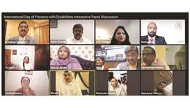 "Speaking at the online event, Doha-based Nawaal Akram, disability rights advocate, said; ""everything"