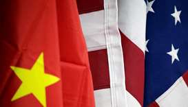 Flags of China and US