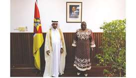Acting Charge' d'Affaires of the Qatari embassy in Maputo Ahmed bin Tajer al-Sada handed the message