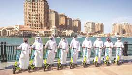 The hi-tech, app-enabled e-scooters are already in service at The Pearl-Qatar.