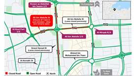 Six-month partial closure on one lane of Ali bin Abdullah Street