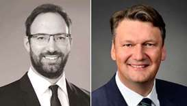 Stephan Essig, partner and managing director at Roland Berger in Qatar, Joerg Klasen, principal at R