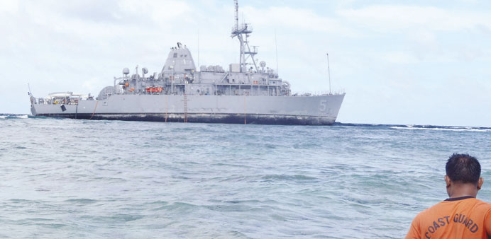 US Navy ship 'damages 1,000 square metres of coral reef'