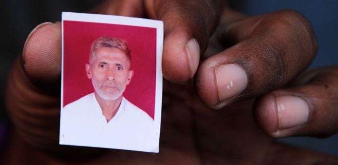 Photo of the man beaten to death in UP