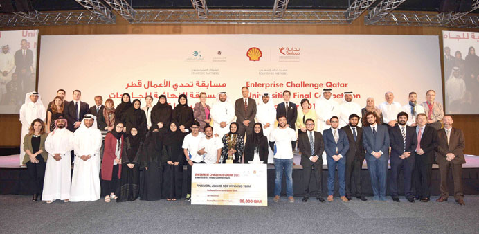 The winners with officials and dignitaries.