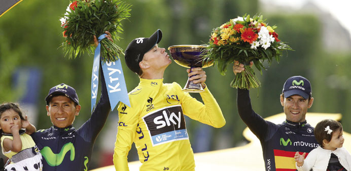 Strongman Froome rides out many storms to win again