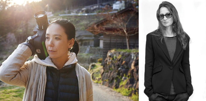 Naomi Kawase, right:  Lucrecia Martel