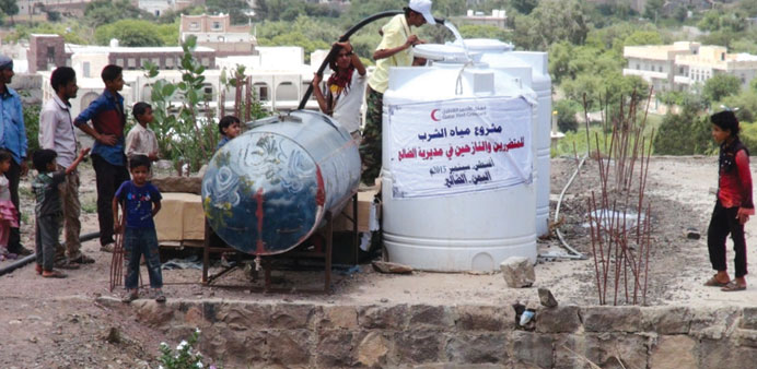 Under the project, 120,000 litres of clean water have been distributed per day.
