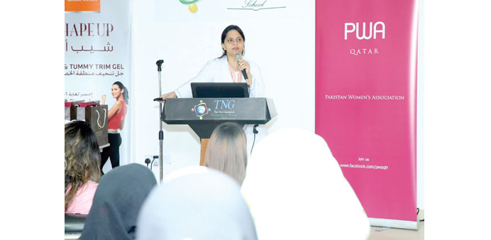 LECTURE: Dr Zeba addressing the audience.