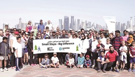 Maersk Oil Qatar employees take part in walkathon