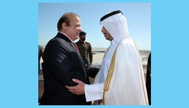 Pakistan's prime minister arrives in Doha
