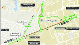 Traffic diversion near QNCC