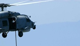 Greek navy helicopter crashes in Aegean, three feared dead