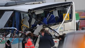 Six killed as school bus crashes with truck in France
