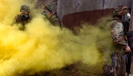 Mustard gas weapon use simulation by US Navy