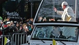Pope urges peace in Mexico's poor, violent corners